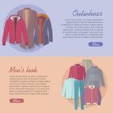 Insegna di web dello sguardo degli uomini della tuta sportiva Autumn Winter royalty illustrazione gratis