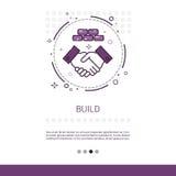 Insegna di web di ingegneria della costruzione di edifici con lo spazio della copia illustrazione di stock