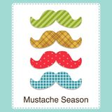 Insegna differente luminosa sveglia dei baffi di Movember Fotografia Stock Libera da Diritti
