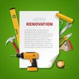 Insegna domestica di rinnovamento Immagine Stock