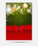 Insegna e carta del sito Web dei fiocchi di neve di Natale Immagini Stock Libere da Diritti