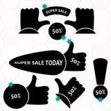 Insegna eccellente della carta di vendita Fondo di vendita Immagini Stock Libere da Diritti