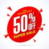 Insegna eccellente di vendita di fine settimana Immagini Stock