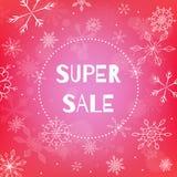 Insegna eccellente di vendita di Natale illustrazione di stock