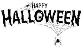 Insegna felice del testo di Halloween Immagini Stock Libere da Diritti