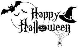 Insegna felice del testo di Halloween Immagine Stock Libera da Diritti
