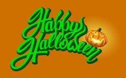 Insegna felice del testo di Halloween Immagini Stock