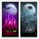 Insegna felice delle collezioni di Halloween di vettore illustrazione di stock