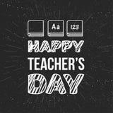 Insegna felice di celebrazione di giorno degli insegnanti illustrazione vettoriale