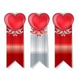 Insegna felice di giorno di biglietti di S. Valentino Fotografia Stock