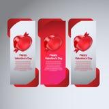 Insegna felice di giorno di biglietti di S. Valentino nuova Immagine Stock Libera da Diritti