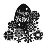 Insegna felice di Pasqua di vettore illustrazione di stock
