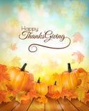 Insegna felice di ringraziamento con le verdure di autunno Immagine Stock Libera da Diritti