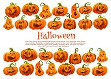 Insegna festiva della lanterna della zucca di festa di Halloween royalty illustrazione gratis