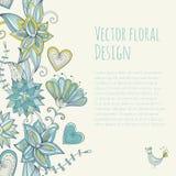 Insegna floreale variopinta nello stile d'annata Reticolo senza giunte Fotografia Stock Libera da Diritti
