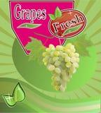 Insegna fresca del succo dell'uva Fotografie Stock Libere da Diritti
