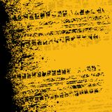 Insegna gialla della pista della gomma Fotografie Stock Libere da Diritti