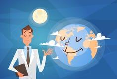 Insegna globale di festa di giorno del mondo di medico Earth Planet Health Fotografia Stock