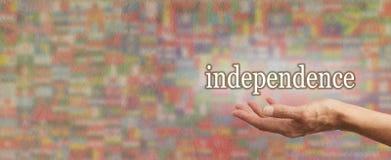 Insegna globale di indipendenza Immagini Stock Libere da Diritti