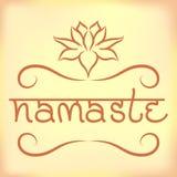 Insegna indiana Namaste di saluto Immagini Stock Libere da Diritti