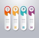 Insegna infographic moderna con 4 opzioni Immagine Stock