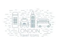 Insegna lineare di Londra Immagini Stock Libere da Diritti