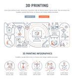 Insegna lineare di stampa 3D Fotografia Stock