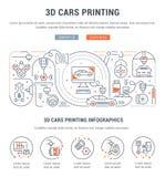 Insegna lineare di stampa delle automobili 3D Fotografie Stock Libere da Diritti
