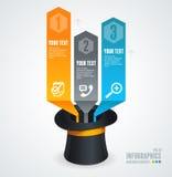 Insegna lucida moderna della freccia di opzioni di infographics Immagine Stock Libera da Diritti