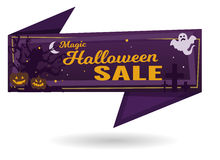 Insegna magica di vendita di Halloween Immagini Stock Libere da Diritti