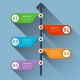 Insegna minima di infographics di cronologia Fotografie Stock