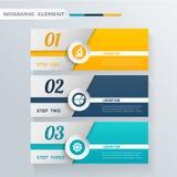 Insegna moderna dell'elemento di progettazione di Infographic Fotografia Stock