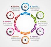 Insegna moderna di opzioni di infographics Immagini Stock Libere da Diritti