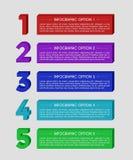 Insegna moderna di opzioni di infographics del blocco 3D Fotografia Stock Libera da Diritti
