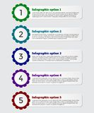 Insegna moderna di opzioni di infographics della carta 3D Fotografie Stock