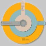 Insegna moderna di opzioni di infographics di vettore Fotografie Stock Libere da Diritti