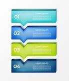 Insegna moderna di opzioni di infographics Illustrazione di vettore può essere usato per la disposizione di flusso di lavoro illustrazione di stock