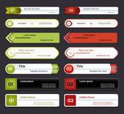 Insegna moderna di opzioni di infographics. Illustrazione di vettore. può essere usato per la disposizione di flusso di lavoro, il Immagine Stock Libera da Diritti