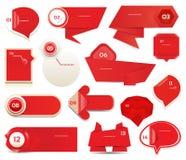 Insegna moderna di opzioni di infographics. Illustrazione di vettore. può essere usato per la disposizione di flusso di lavoro, il Fotografie Stock