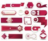 Insegna moderna di opzioni di infographics Illustrazione di vettore può essere usato per la disposizione di flusso di lavoro, il  Fotografia Stock