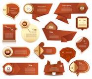 Insegna moderna di opzioni di infographics Illustrazione di vettore può essere usato per la disposizione di flusso di lavoro, il  Fotografia Stock Libera da Diritti