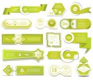 Insegna moderna di opzioni di infographics Illustrazione di vettore può essere usato per la disposizione di flusso di lavoro, il  Fotografie Stock