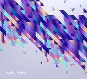 Insegna moderna di pendenza con le forme geometriche astratte e bande con colore fluido su fondo grigio illustrazione vettoriale