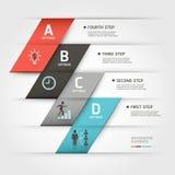 Insegna moderna di stile di origami dello steb di affari. Immagine Stock Libera da Diritti