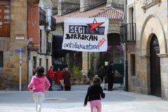 Insegna nazionalista basca Immagini Stock