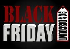 Insegna nera di venerdì Immagini Stock Libere da Diritti