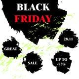 Insegna nera di venerdì, manifesto, aletta di filatoio Fotografie Stock
