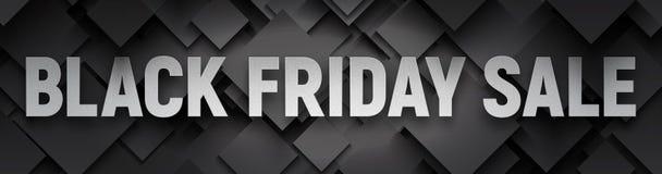 Insegna nera di vettore di vendita di venerdì Immagini Stock Libere da Diritti