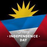 Insegna o manifesto della celebrazione di festa dell'indipendenza dell'Antigua e Barbuda illustrazione di stock