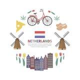 Insegna olandese di web illustrazione di stock